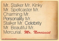 mr narcissist