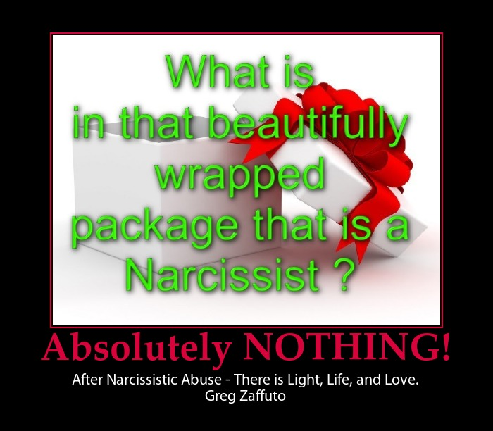 "When the Narcissist says ""I love you!"" 