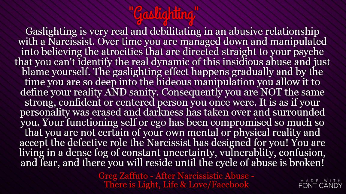 Traits of a gaslighter