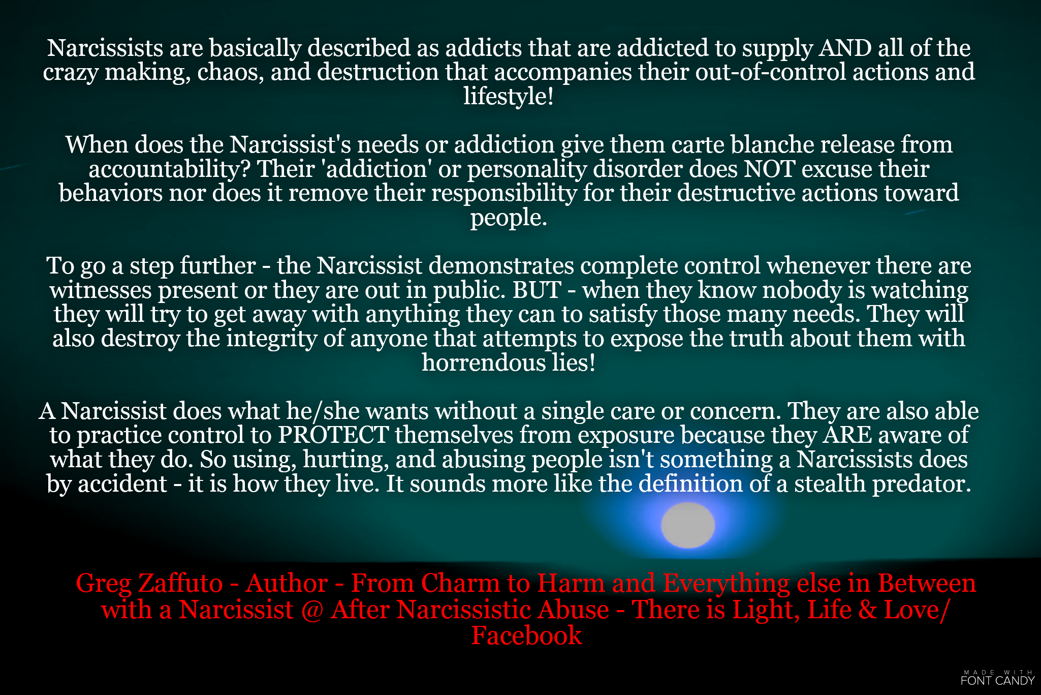 Let's call this what it is ABUSE – and let's call a Narcissist what