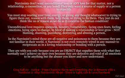 The Narcissist is a master at putting a spin on everything