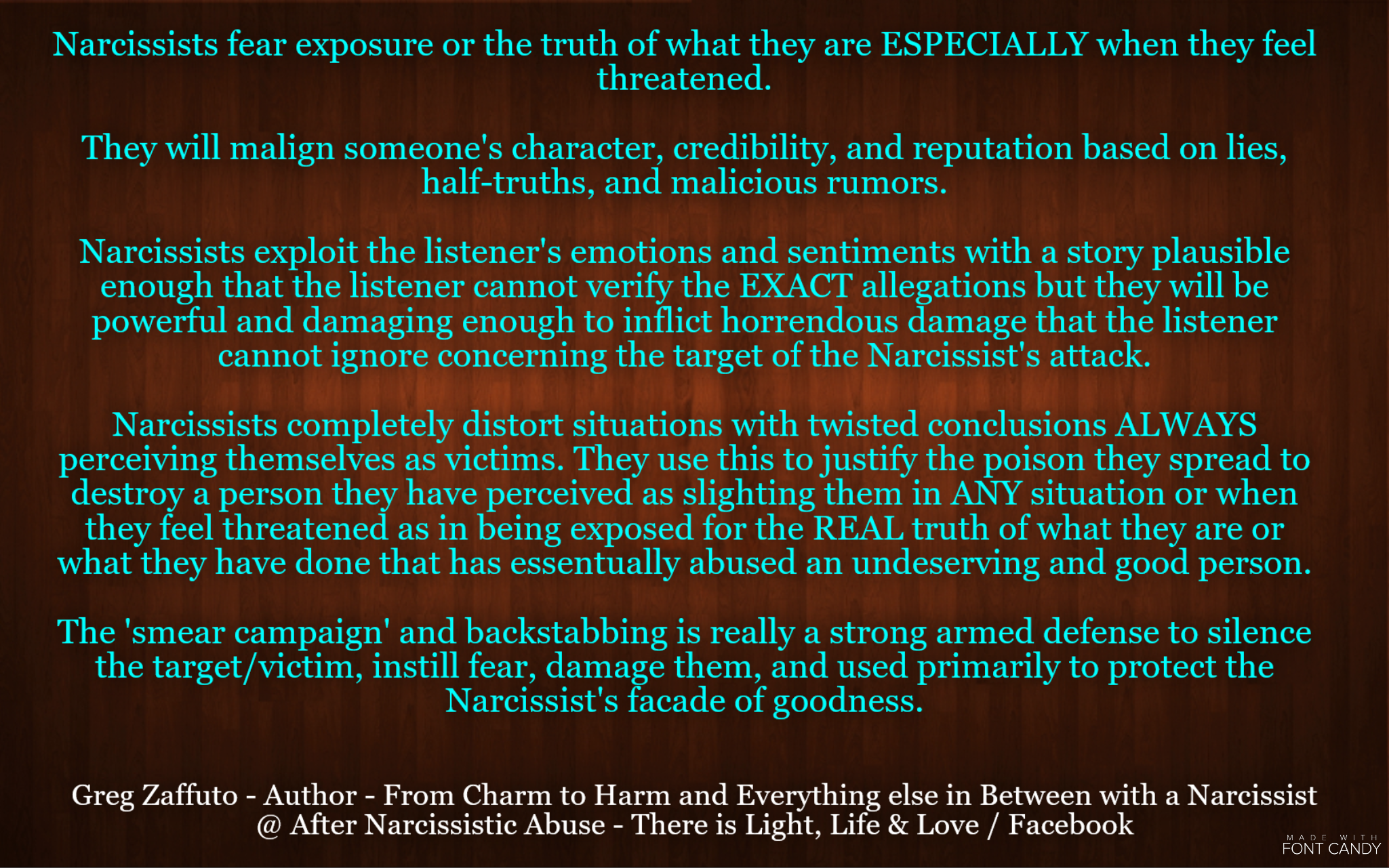 Why a narcissist does a smear campaign