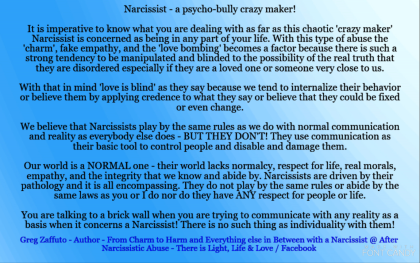 Chaos, crazy making, and drama – a Narcissist's recipe to always