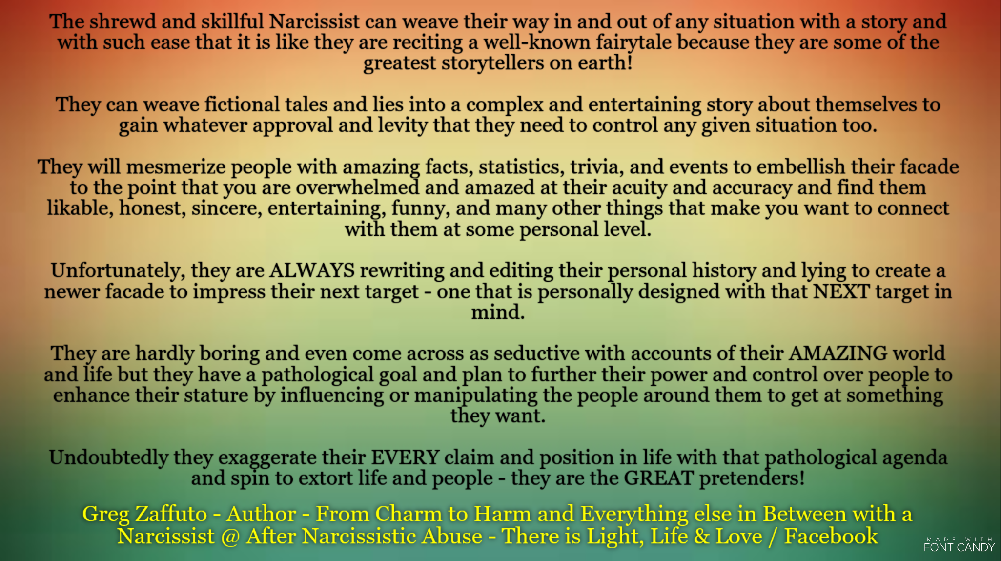 NARCISSISTS – what they APPEAR to be and what they really