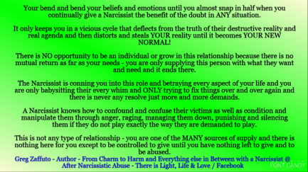 Whatever that Narcissist has said to you that has deeply hurt you or