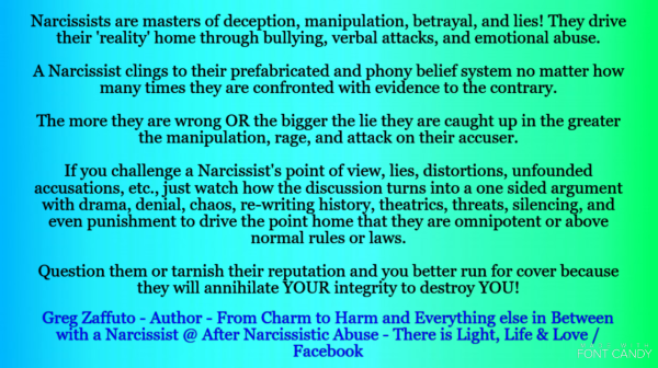 Narcissism 101  A relationship with a Narcissist is like a one-way