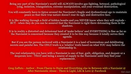 what does narcissist want