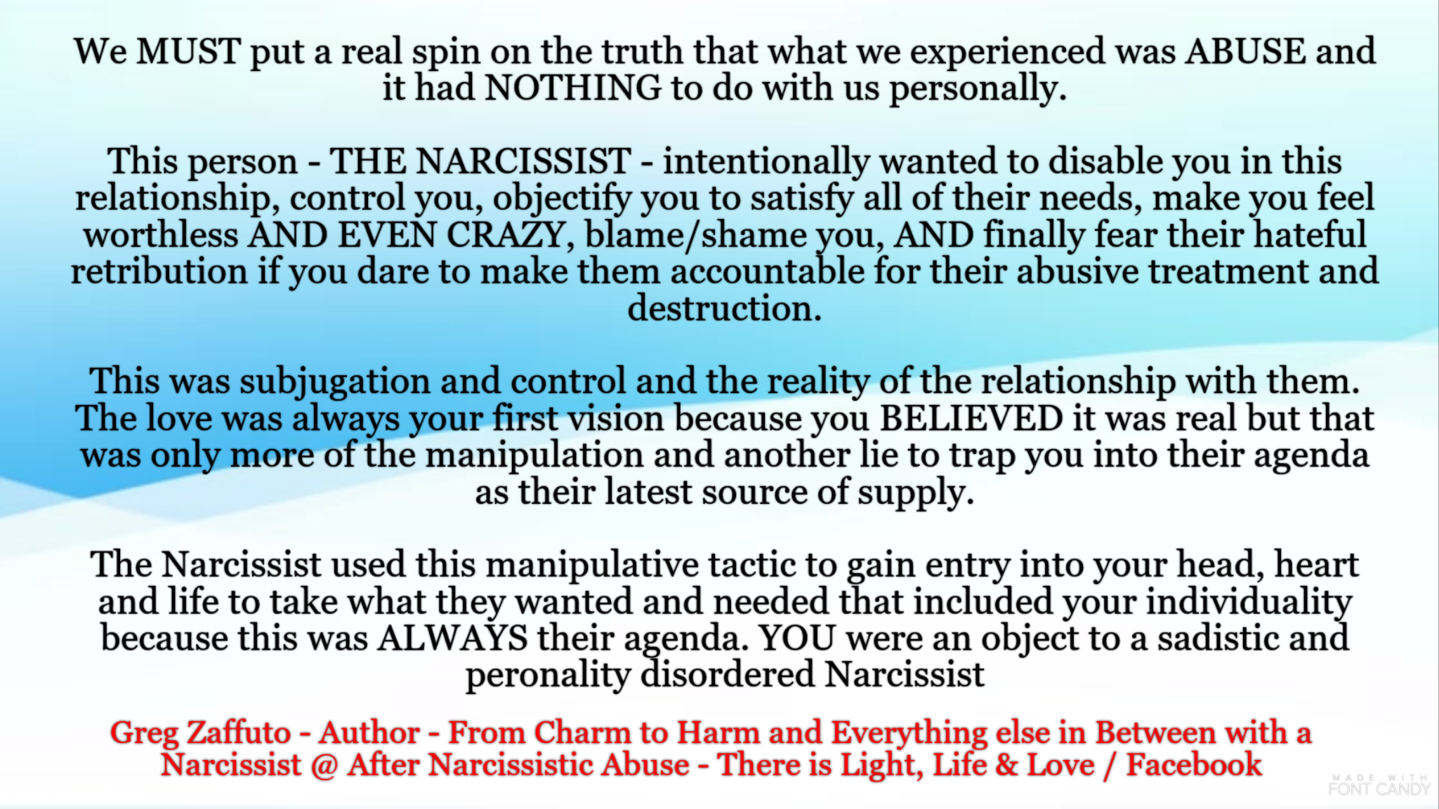 When the Narcissist's mask slips and you see what is actually behind