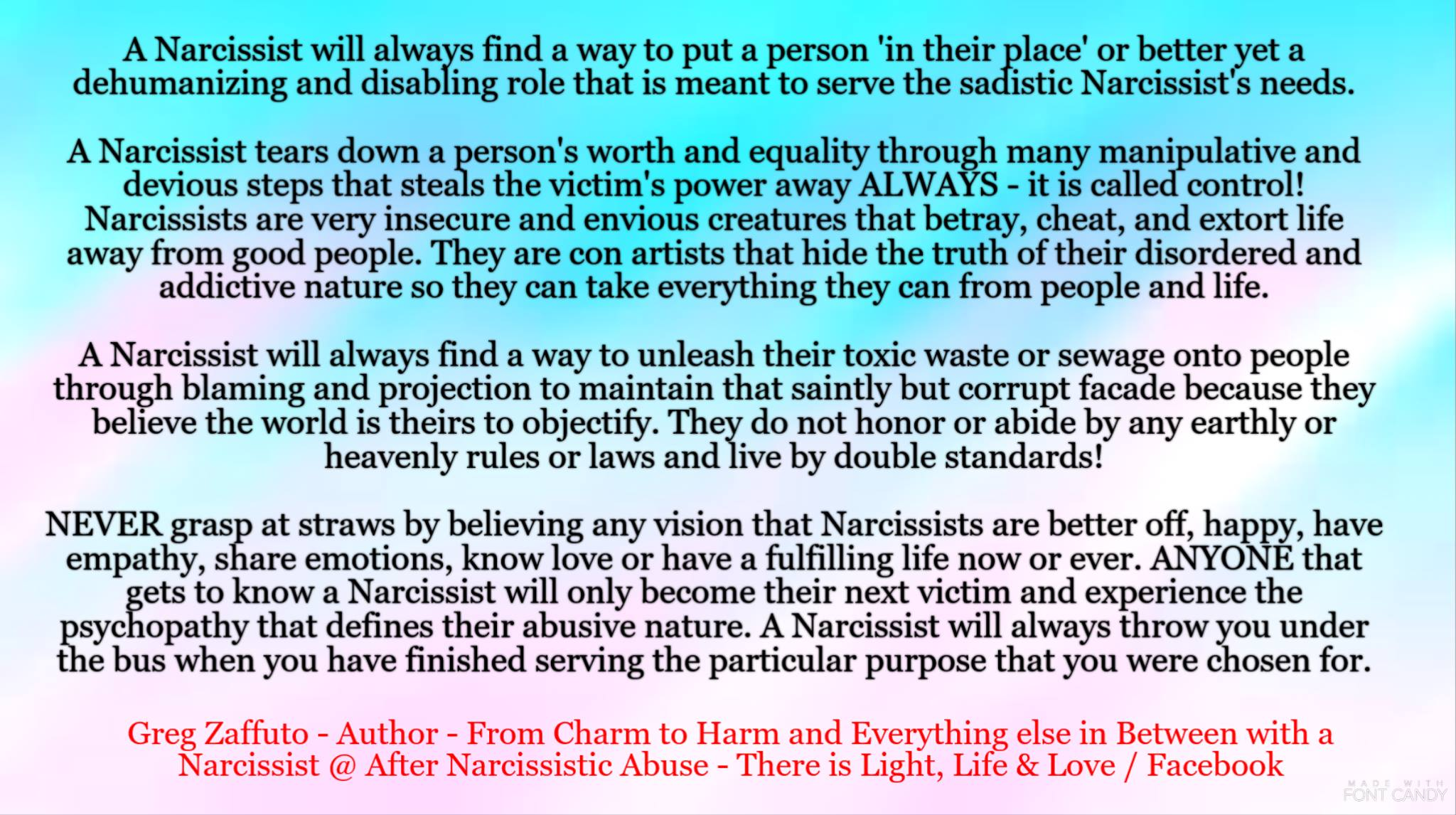 How to disable a narcissist