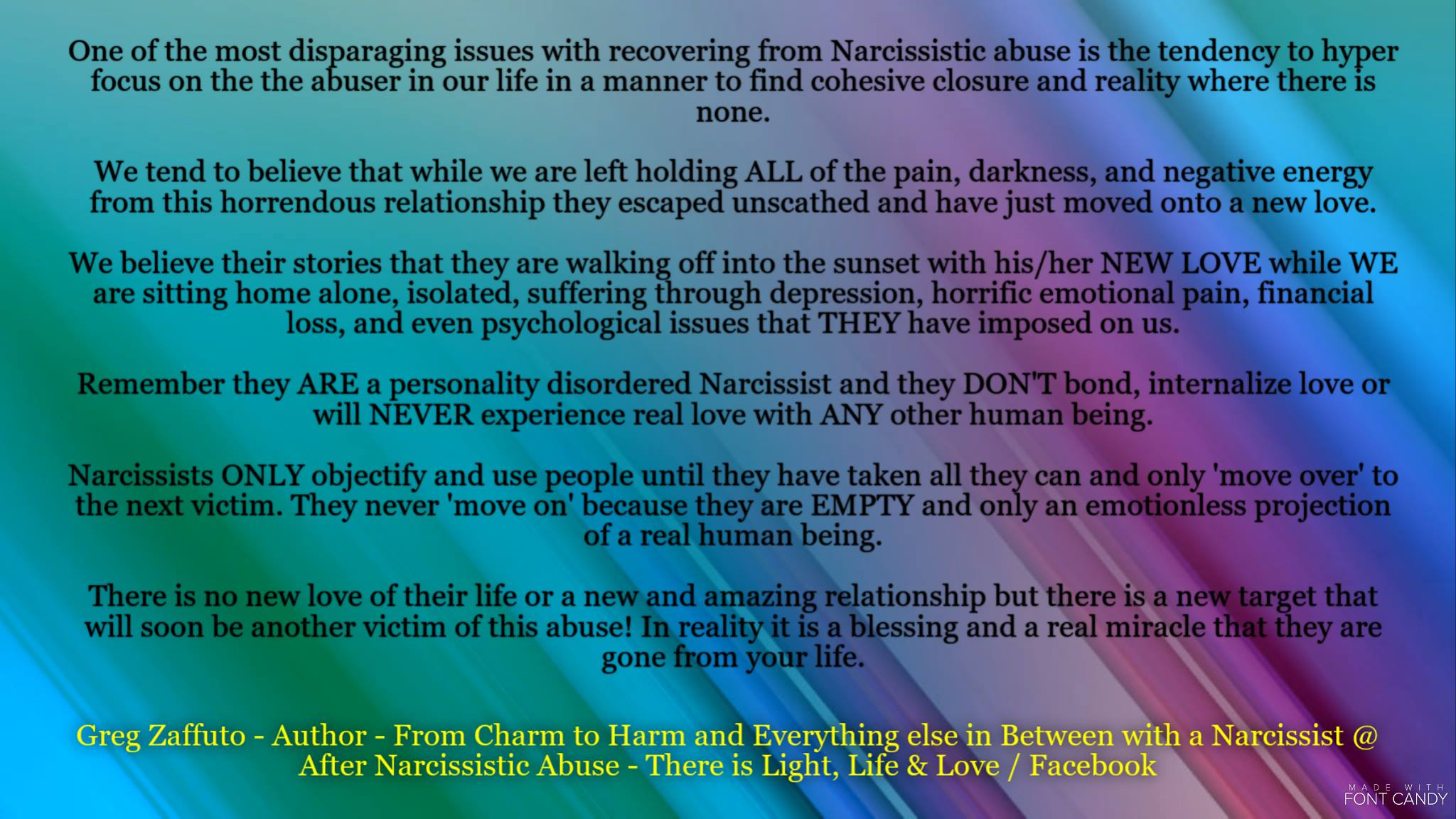 That Narcissist moved on so QUICKLY that there MUST be