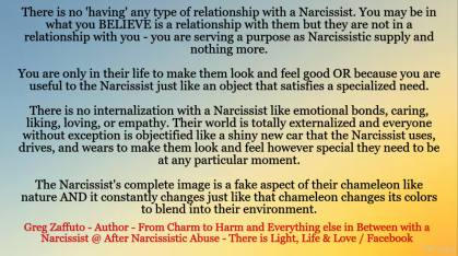 What defines a 'relationship' with a Narcissist – EXPLOITATION! They