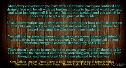 PART 1: Any conversation or interaction with a Narcissist is