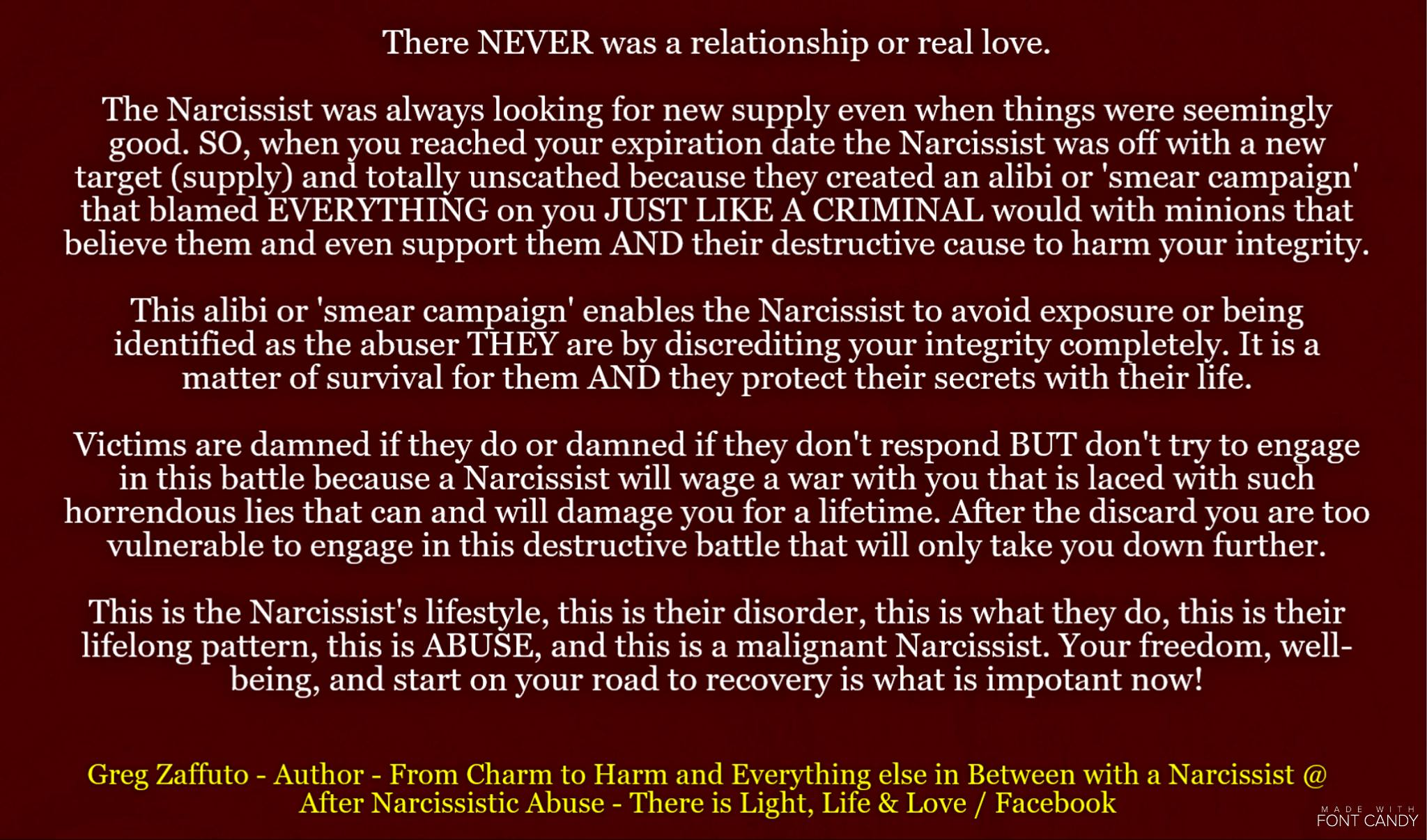 Recovery from dating a narcissist
