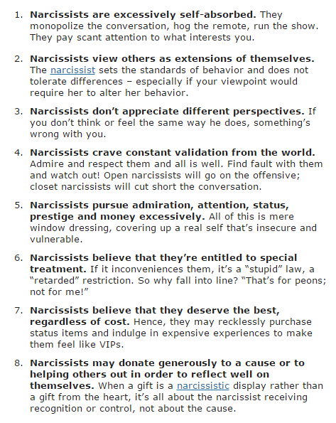Run from a narcissist