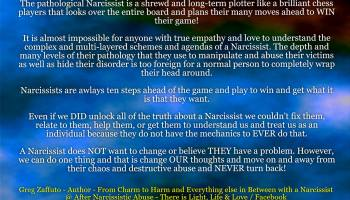 A Narcissist is always many steps ahead of the game with their