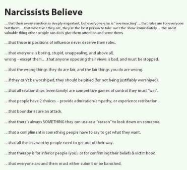 narcissists believememe