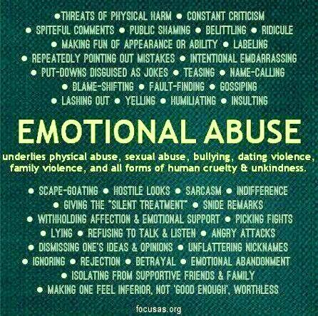 Sticks and Stones may Break your Bones, but a Narcissist's words will Emotionally and Psychologically ABUSE you!