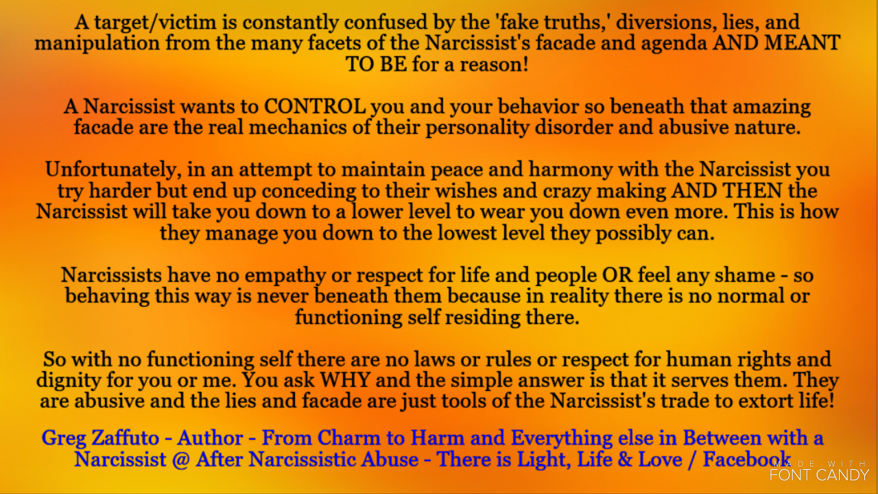 Lets take a closer look at the omnipotent and amazing Wizard of blah, blah, blah or a Narcissist!