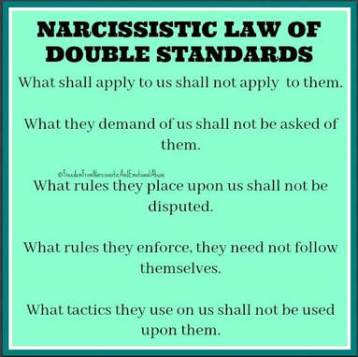 BLUE narc double standards meme