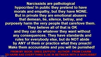 BLUE pathological hypocrites mememe