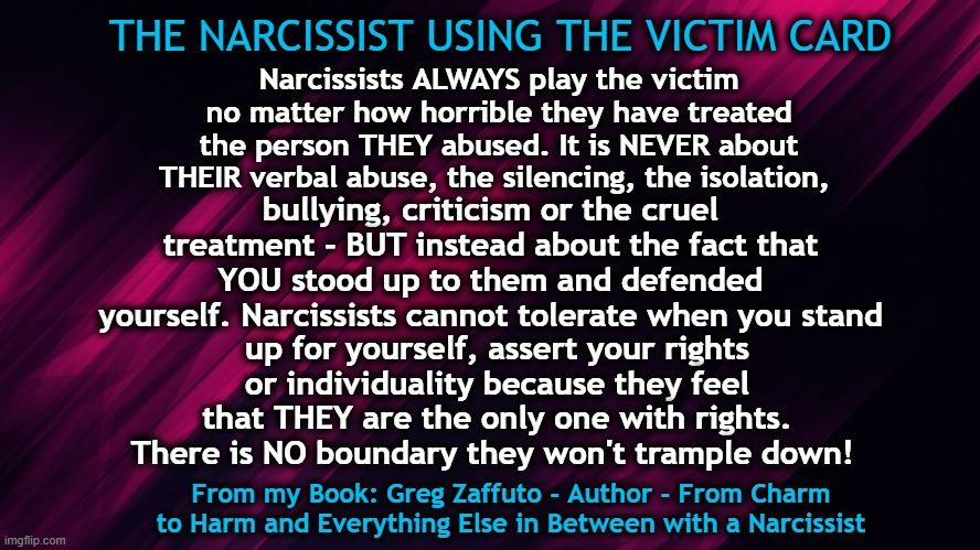 Purple Narc Using Victim Carddd Memem After Narcissistic Abuse